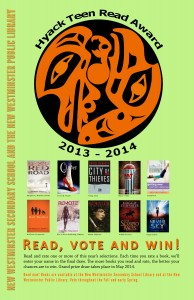Hyack Teen Read Award 2013-2014 poster
