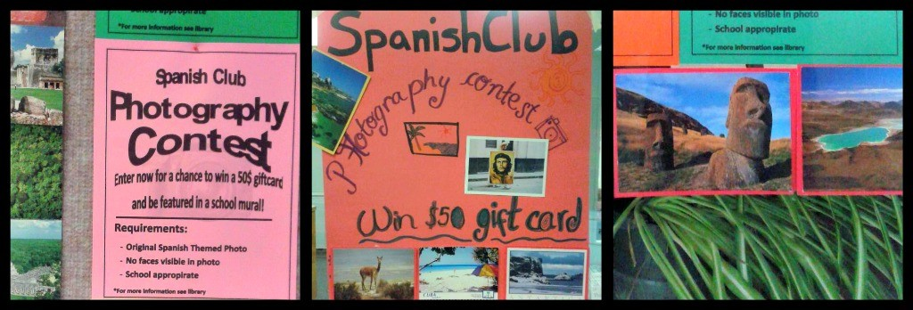 Ribbet collage spanish club contest
